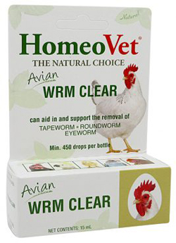 HomeoPet Avian WRM Clear Dewormer 1ea/0.5 fl oz