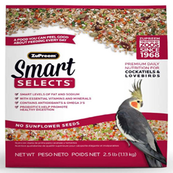 ZuPreem Smart Selects Cockatiels & Lovebirds 2.5lbs