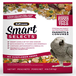 ZuPreem Smart Selects Parrots & Conures 4lbs