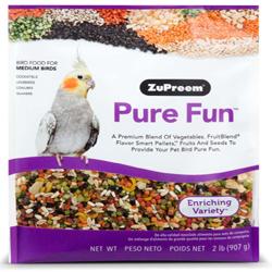 ZuPreem Pure Fun Bird Food for Medium Birds 2lb
