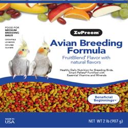 ZuPreem AvianBreeding Formula FruitBlend Cockatiels Bird Food 2lb