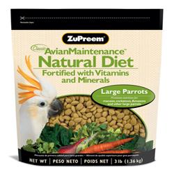 ZuPreem Natural Large Parrots 3lb